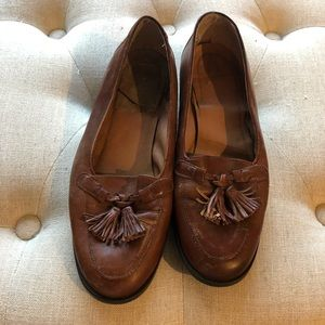 Brown leather moccasins /loafers /flats
